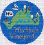 704 Martha's Vineyard Ornament 4.25 RD. 18 Mesh Silver Needle Designs