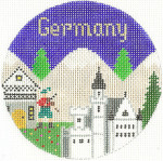 634 Germany Ornament4.25 RD. 18 Mesh Silver Needle Designs