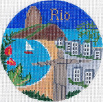 685 Rio Ornament 4.25 RD. 18 Mesh Silver Needle Designs