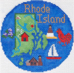 710 Rhode Island Ornament	4.25 RD. 18 Mesh Silver Needle Designs