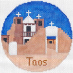 711 Taos Ornament 4.25 RD. 18 Mesh Silver Needle Designs