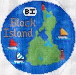 696 Block Island Ornament4.25 RD. 18 Mesh Silver Needle Designs