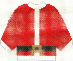 669 Santa Sweater Ornament 4.5 x 5.5 13 Count Silver Needle Designs
