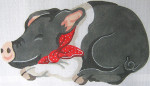 23 Black Pig Pillow 8 x 14 13 Count\Silver Needle Designs