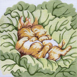 36 Napping Bunnies 14 x 14 13 Count\ Silver Needle Designs