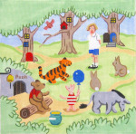 117 Hundred Acre Wood 10 x 10 18 Mesh Winnie The Pooh Silver Needle Designs
