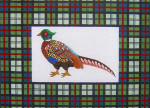 107	Plaid Pheasant	18.25 x 13 13 Mesh Silver Needle Designs