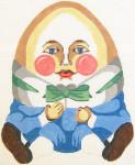 134 Humpty Dumpty 9.25 x 11.5 13 Count\ Silver Needle Designs