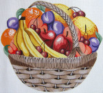 109 Fruit Basket 15 x 12.5 13 Count\ Silver Needle Designs