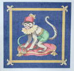 130 Monkey 16 x 16 13 Count\ Silver Needle Designs
