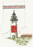 166 Lighthouse Minisock 4 x 5.5 18 Count\ Silver Needle Designs