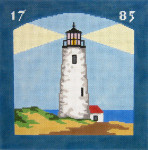 218 Great Point Lighthouse Pillow 10 x 10 13 Count Silver Needle Designs