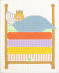 122 Princess and the Pea (with stitch guide) 7 x9 13 Count\ Silver Needle Designs