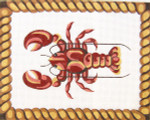 219 Lobster 10 x 12.75 13 Count Silver Needle Designs