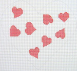 159P Heart Pillow - Pink 8.5 x 8 12 Count Silver Needle Designs