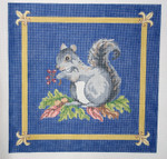 209 Squirrel 16 x 16 13 Count\ Silver Needle Designs