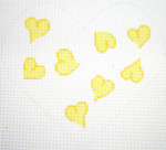 159Y Heart Pillow - Yellow 8.5 x 8 12 Count Silver Needle Designs