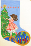 312 Sugar Plum Fairy Christmas Stocking 12 x 18 12 Count Silver Needle Designs