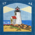 216 Brant Point Lighthouse 10 x 10 13 Count  Silver Needle Designs