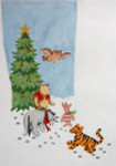310 Winnie ThePooh and Friends Christmas Stocking 12 x 18 12 Count Silver Needle Designs