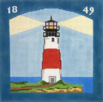 217 Sankaty Head Lighthouse 10 x 10 13 Count Silver Needle Designs