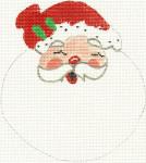 282 Santa Face Ornament 5 x 5.5 18 Count Silver Needle Designs