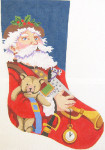 306 Father Christmas Stocking 12 x 18 12 Count Silver Needle Designs