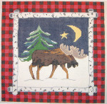 557 Good Night, Moose! 12 x 12 13 Count Silver Needle Designs