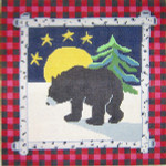 558 Good Night, Bear! 12 x 12 13 Count Silver Needle Designs