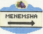 655 Menemsha Sign Ornament 2.5 x 3.5 18 Count Silver Needle Designs