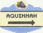 647 Aquinnah Sign Ornament 2.5 x 3.5 18 Count Silver Needle Designs