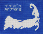 570 Cape Cod Pillow 7.5 x 9.75 13 Count Silver Needle Designs