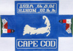 564 Cape Cod Doorstop 14 x 9.5 13 Count Silver Needle Designs