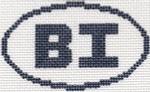 716 BI (Block Island, RI) Oval Ornament 5 x 3 13 Mesh Silver Needle Designs