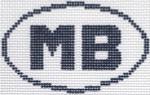 723 MB (Myrtle Beach, SC) Oval Ornament5 x 3 13 Mesh Silver Needle Designs