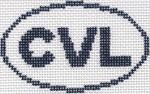 718 CVL (Charlottesville, VA) Oval Ornament 5 x 3 13 Mesh Silver Needle Designs