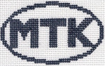 724 MTK (Montauk, NY) Oval Ornament 5 x 3 13 Mesh Silver Needle Designs