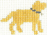 """M10 Yellow Lab """"STAY"""" Mini 2 x 2.5 13 Count Silver Needle Designs"""