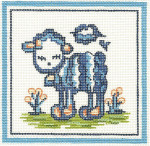 H01 Lamb 11 x 11 13 Count Hadley Pottery Silver Needle Designs