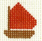 M24 Red Boat Mini 2 x2 13 Count Silver Needle Designs