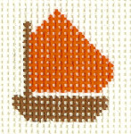 M26 Orange Boat Mini 2 x2 13 Count Silver Needle Designs