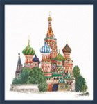 "GOK513A Thea Gouverneur Kit St. Basils Cathedral Moscow  aida white 13"" x 14""; Aida; 18ct"