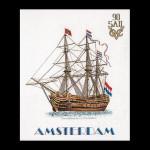 """GOK2020 Thea Gouverneur Kit Sail 1990 22"""" x 26""""; Jobelan; 28ct"""