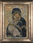 "GOK531A Thea Gouverneur Kit Our Lady of Vladimir 8.8"" x 13.6""; Aida; 18ct"