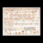 "GOK2066 Thea Gouverneur Kit Sampler 1842 20"" x 15""; Linen; 36ct"