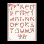 "GOK2049 Thea Gouverneur Kit Flamingo Alphabet 17"" x 23""; Linen; 32ct"