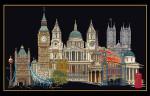 "GOK470B Thea Gouverneur Kit London 20"" x 31.5""; Aida; 18ct"