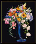 "GOK1086B Thea Gouverneur Kit Elegant Cut Flowers 15-1/2"" x 23""; Aida; 18ct"