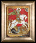 "GOK498A Thea Gouverneur Kit Icon St. George and the Dragon 9"" x 14""; Aida; 18ct"