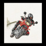 "GOK3054 Thea Gouverneur Kit Motorcross 6"" x 7""; Linen; 36ct"